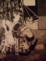 「廃屋の猫達」 A5アートカード