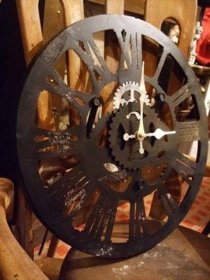 画像4: 【再入荷】スチームパンクなギアの壁掛け時計 ファクトリー