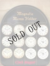 "Magnetic memo holder ""Clock"""