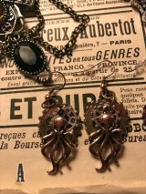Steampunk accessory Octopus 歯車と蛸のピアス