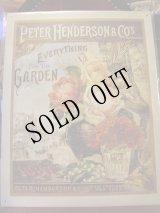 アメリカ直輸入ブリキ看板「Henderson's-Garden」