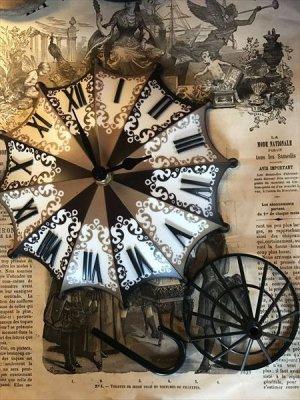 画像2: Umbrella Clock 傘の置時計
