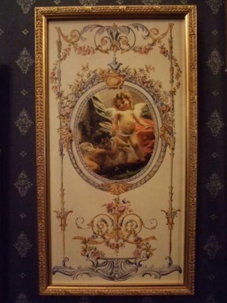 画像1: イタリア製金額縁 天使のアートフレーム イタリア製金額縁 天使のアートフレーム淑女雑貨