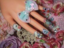他の写真を見る2: [art nail]milky blue シンデレラ