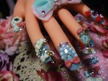 他の写真を見る3: [art nail]milky blue シンデレラ
