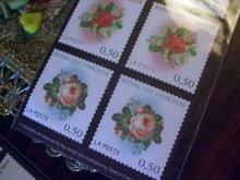 他の写真を見る1: 〔再入荷〕切手型エコシール Antique Rose