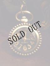 【再入荷】黒文字盤×金古美のクラシックスタイル時計ネックレス
