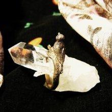 他の写真を見る1: 銀製 小鳥リング「葉」