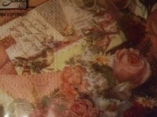 他の写真を見る2: 手紙と古城と薔薇柄のロマンチックデザインペーパーナプキン
