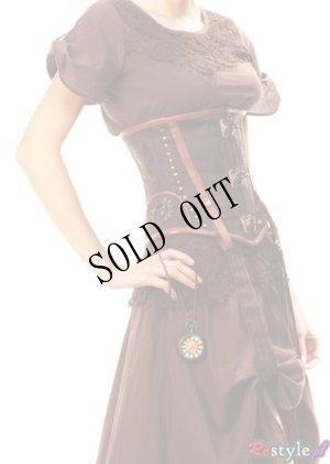 画像4: サイズ展開UP【再入荷】steampunk underbust brown corset
