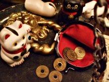 他の写真を見る3: 【再入荷】昭和レトロテイスト白黒福招き猫がま口