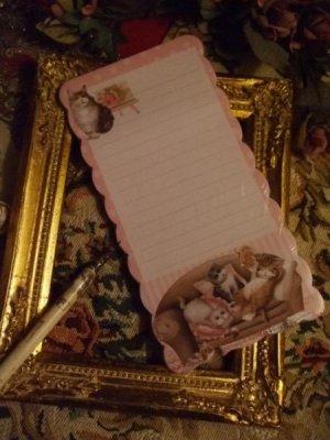 画像2: ソファーずんぐり猫 フリルカットメモレター