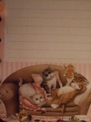 画像3: ソファーずんぐり猫 フリルカットメモレター