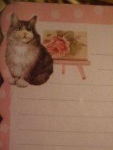 ソファーずんぐり猫 フリルカットメモレター
