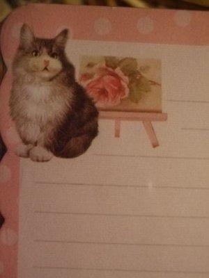 画像1: ソファーずんぐり猫 フリルカットメモレター