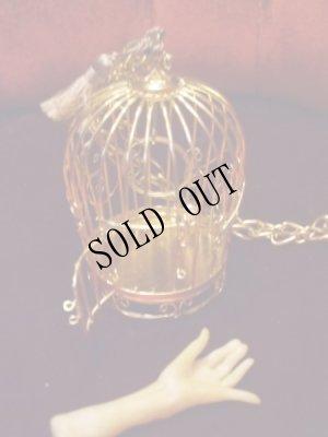画像4: 麗しき御手を閉じ込めた金の鳥籠ネックレス。