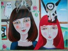 他の写真を見る1: uroko-少女ポストカード「お友達」