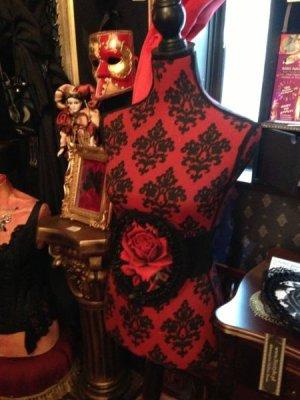 画像5: [再入荷] 赤い薔薇のベルトWaist elastic belt RED ROSE in lace frame