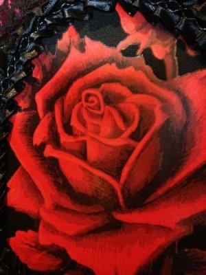 画像4: [再入荷] 赤い薔薇のベルトWaist elastic belt RED ROSE in lace frame