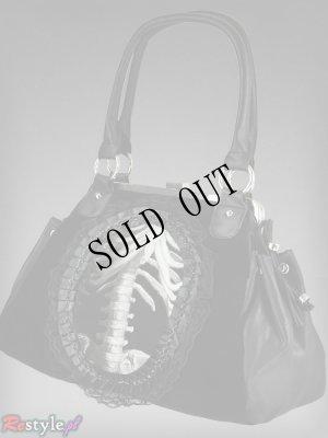 画像3: 再入荷【Ver.2】gothic handbag human skeleton 骨格装飾ヴェルベットバッグ