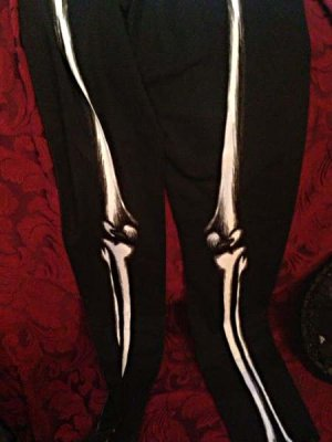 画像5: Skeleton leggings bones trousers horror pants 骨レギンス