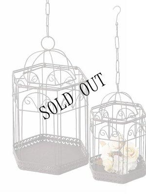 画像2:  Wire Bird Cage 吊り下げ鳥かごファッションケージ