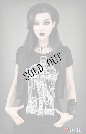 画像2: Raven in victorian cage birdcage women gothic T-shirt