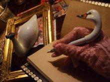 他の写真を見る3: 【再入荷】オブジェティックペン 白鳥のペン