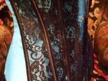 他の写真を見る3: 【再入荷】 オーバーバスト ブルー×ブラック ブローチ付コルセット