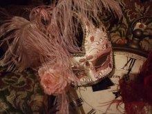他の写真を見る1: ヴェネチアンカーニバルマスク・マスケラ フェザーandバー