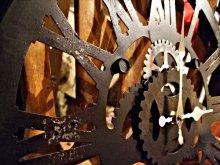 他の写真を見る2: 【再入荷】 スチームパンクなギアの壁掛け時計 ファクトリー