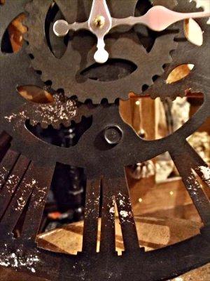 画像2: 【再入荷】スチームパンクなギアの壁掛け時計 ファクトリー