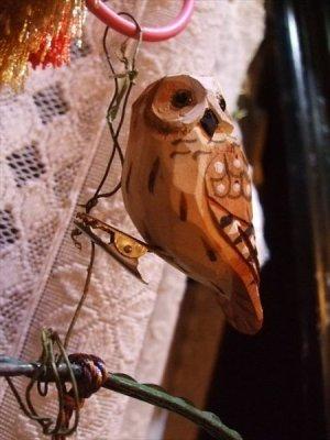画像2: ウッデンデコ フクロウ クリップ