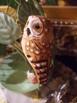 画像3: ウッデンデコ フクロウ クリップ