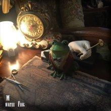 他の写真を見る2: the Waiter Frog  object doll