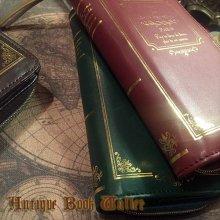 他の写真を見る3: Antique Book Wallet-箔押し洋書の形の長財布
