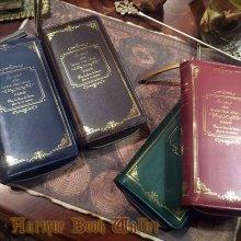 他の写真を見る1: Antique Book Wallet-箔押し洋書の形の長財布