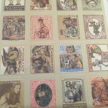 他の写真を見る1: 【再入荷】 不思議の国のアリス 切手風シールシート(80pc)セット