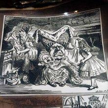 他の写真を見る1: 【再入荷】不思議の国のアリス アイロン転写シートセット