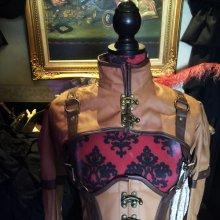 他の写真を見る1: steampunk bolero schrug brown faux leather swing hooks スチームパンクボレロ