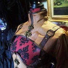 他の写真を見る3: steampunk bolero schrug brown faux leather swing hooks スチームパンクボレロ