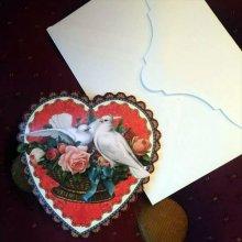 他の写真を見る1:   DOVES HEART ダイカットスモールカード<無地多用途>
