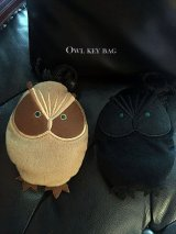 Owl Key Bag-ふくろうのぬいぐるみキーバッグ