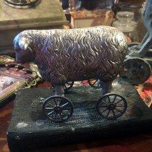 他の写真を見る1: retro sheep ミニホィールシープ 車輪の羊