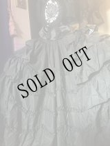 DARK ROCOCO gothic, long, black skirt 大判円形のフリルスカート