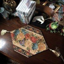 他の写真を見る3: 薔薇柄のゴブラン織りタッセル付き テーブルウェア