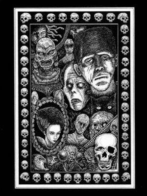 画像1: 「古典的怪物たちの肖像」  Portrait of Classic Monsters 近藤宗臣直筆原画
