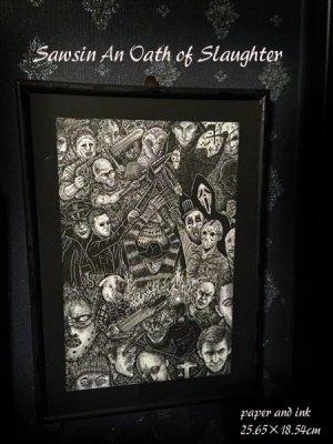 画像2: 「殺戮の誓い」 An Oath of Slaughter 近藤宗臣直筆原画