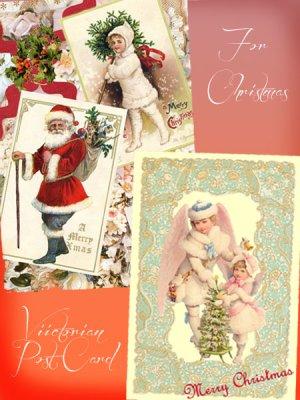 画像1: ヴィクトリアン クリスマス ポストカード