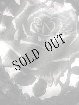 [展示モデルB品] 黒い薔薇のベルトWaist elastic belt BLACK ROSE in lace frame